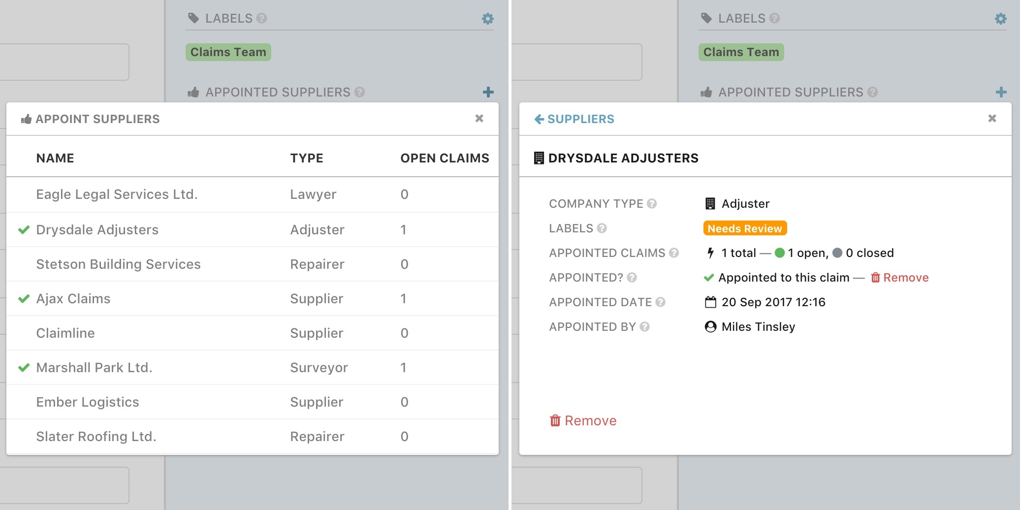 New Feature: Appoint Suppliers to Claims 🎉